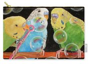 Parakeet Bubbles Carry-all Pouch