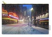 Paramount Snowstorm Boston Ma Washington Street Carry-all Pouch