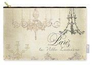 Parchment Paris - City Of Light Chandelier Candelabra Chalk Carry-all Pouch