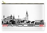 Pardubice Skyline City Black Carry-all Pouch