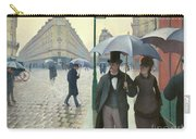Paris A Rainy Day - Gustave Caillebotte Carry-all Pouch