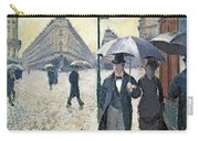 Paris A Rainy Day Carry-all Pouch by Gustave Caillebotte