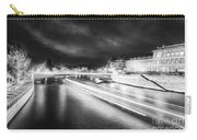 Paris At Night 19 Bw Art  Carry-all Pouch