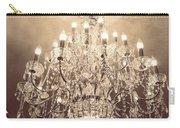 Paris Dreamy Golden Sepia Sparkling Elegant Opulent Chandelier Fine Art Carry-all Pouch by Kathy Fornal