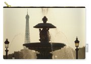 Paris Fountain In Sepia Carry-all Pouch