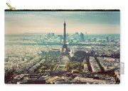 Paris, France Vintage Skyline, Panorama. Eiffel Tower, Champ De Mars Carry-all Pouch