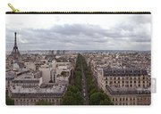 Paris From The Arch De Triumph Carry-all Pouch