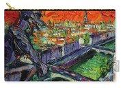 Paris Gargoyle Contemplation Textural Impressionist Stylized Cityscape Carry-all Pouch