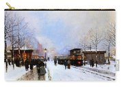 Paris In Winter Carry-all Pouch by Luigi Loir