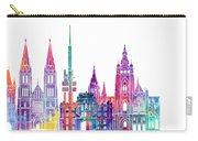 Amsterdam Landmarks Watercolor Poster Carry-all Pouch