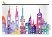 Paris Landmarks Watercolor Poster Carry-all Pouch