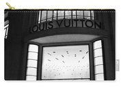 Paris Louis Vuitton Boutique - Louis Vuitton Paris Black And White Art Deco Carry-all Pouch