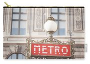 Paris Metro Sign Architecture Carry-all Pouch
