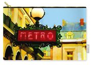 Paris Metro Stop Carry-all Pouch