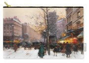 Paris, Porte Saint Denis In Winter Carry-all Pouch