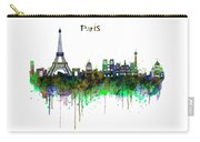Paris Skyline Watercolor Carry-all Pouch