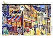 Paris Street Abstract 2 Carry-all Pouch