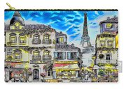 Paris Street Abstract 3 Carry-all Pouch