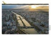 Paris Sunrays Dusk Along The Seine Carry-all Pouch