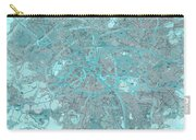 Paris Traffic Abstract Blue Map Carry-all Pouch