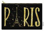 Paris Typografie - Gold Splashes Carry-all Pouch