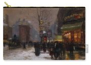 Paris Winter Scene Carry-all Pouch