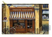 Parisian Bistro And Butcher Shop Carry-all Pouch by Marilyn Dunlap