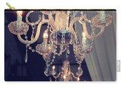 Parisian Crystal Chandelier - Chandelier In Window - Paris Gold Crystal Chandelier Decor Carry-all Pouch