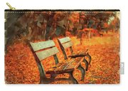 Park Bench In Fall Carry-all Pouch