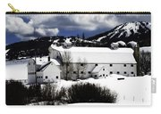 Park City White Barn Carry-all Pouch by La Rae  Roberts