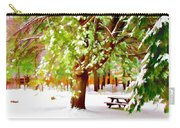 Park In Winter Carry-all Pouch