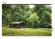 Park Shelter In Lush Forest Landscape Carry-all Pouch
