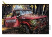 Parked On A Country Road Oil Painting Carry-all Pouch