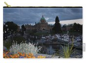 Parliament Building In Victoria At Dusk Carry-all Pouch