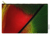 Parrot Feather Macro Carry-all Pouch