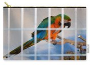 Parrot In A Cage Carry-all Pouch