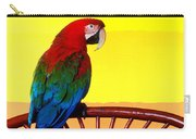 Parrot Sitting On Chair Carry-all Pouch by Garry Gay