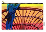 Parrot Sitting On Chair Carry-all Pouch