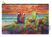 Parrots On The Beach Painterly Carry-all Pouch
