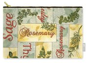 Parsley Collage Carry-all Pouch by Debbie DeWitt