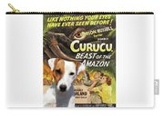 Parson Russell Terrier Art Canvas Print - Curucu  Movie Poster Carry-all Pouch