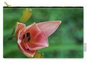 Partially Open Pink Lily Blossom Carry-all Pouch