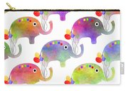 Party Parade - Elephant Children Pattern Carry-all Pouch