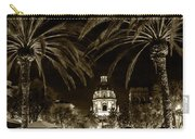 Pasadena City Hall After Dark In Sepia Tone Carry-all Pouch