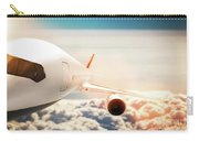 Passenger Airplane Flying At Sunshine, Blue Sky. Carry-all Pouch