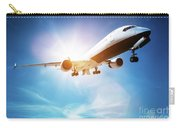Passenger Airplane Taking Off, Sunny Blue Sky. Carry-all Pouch