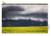Passing By - Storm Passes By Lone Tree In Western Nebraska Carry-all Pouch