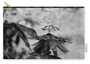 Passion Flower Black And White Carry-all Pouch