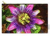 Passion Flower Carry-all Pouch by Mariola Bitner