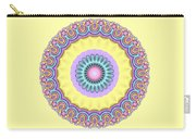 Pastel Peacock Fractal Flower Carry-all Pouch